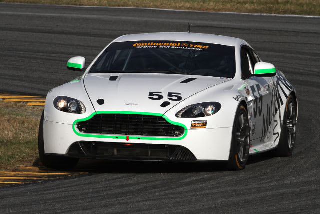 Maxwell led a strong showing by the Aston Martin Vantage teams (Photo Credit: Grand-Am)