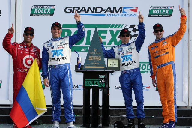Rolex 24 at Daytona winners: Montoya, Rojas, Pruett and Kimball (Photo Credit: Grand-Am)