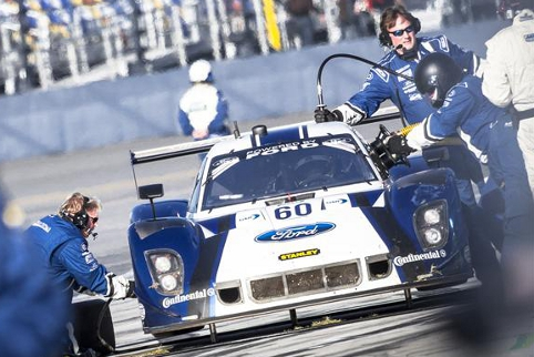 The #60 car's 24 hours included lengthy visits to the pits but ended with a lead lap finish (Photo Credit: Rolex/Stephan Cooper)