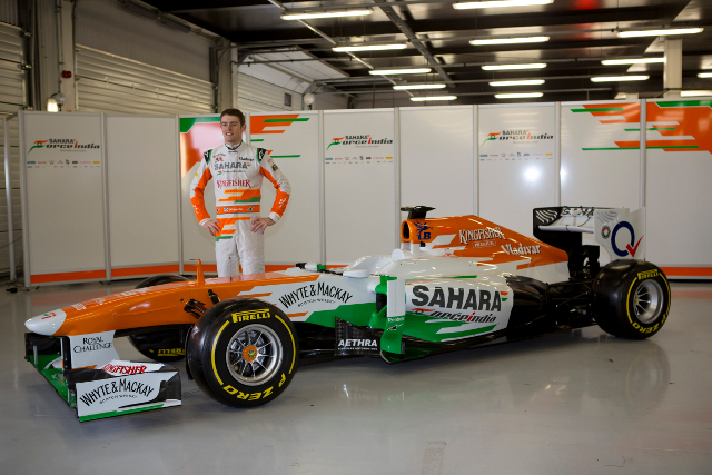 Paul di Resta launched the new car as the team's only confirmed driver (Photo Credit: Gasperotti/JGP)