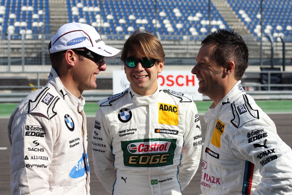Joey, Augusto and Andy - good friends off track, and part of the BMW stable (Image credit: BMW AG)