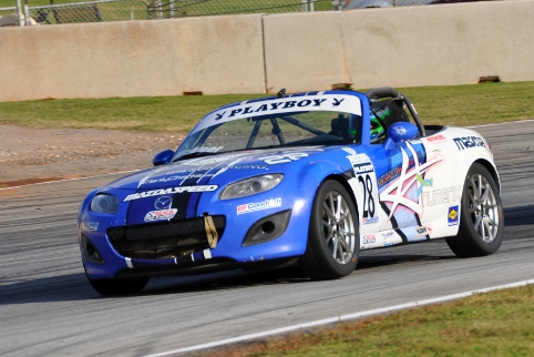 Pole position and a win in his first MX-5 Cup race set the tone for a championship season