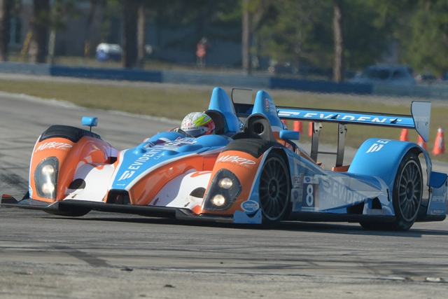 Kyle Marcelli snatched the best LMPC time late in the day (Photo Credit: ALMS)