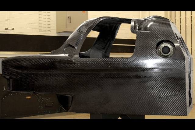 The T128 monocoque is deigned to the 2014 LMP1 regulations, but the team will race in LMP2 this season (Photo Credit: Lotus)