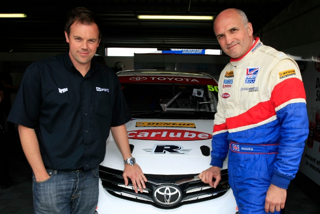 O'Neill raced in a part schedule in Tony Hughes' Speedworks Toyota in 2012 (Photo Credit: btcc.net)