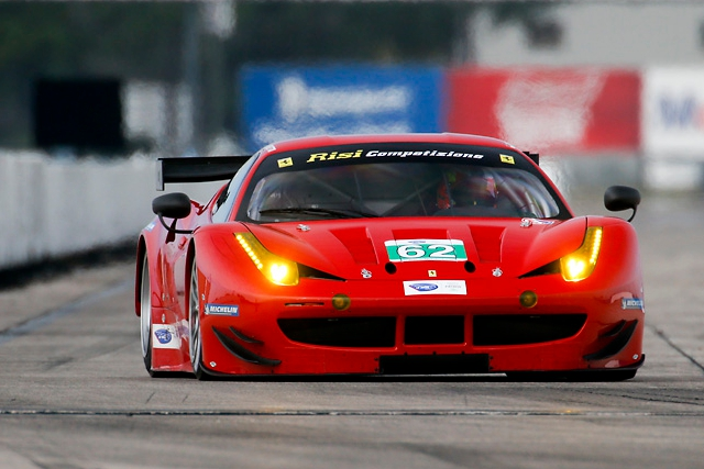 Risi Competizione's #62 returned to ALMS competition at the test (Photo Credit: Regis Lefebure/Risi Competizione)