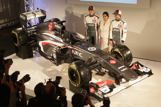 Sauber joined the F1 launch season from Switzerland (Photo Credit: Sauber Motorsport AG)