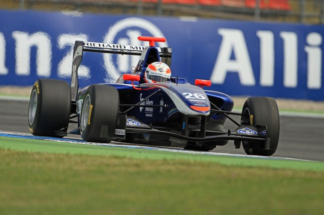 Alex in action for Carlin in GP3 at Hockenheim (Image credit: Octane Photographic)