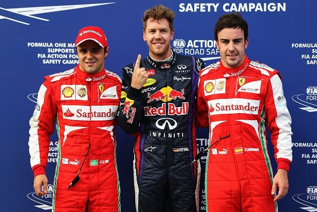 The top three qualifiers at Sepang - Photo Credit: Mark Thompson/Getty Images