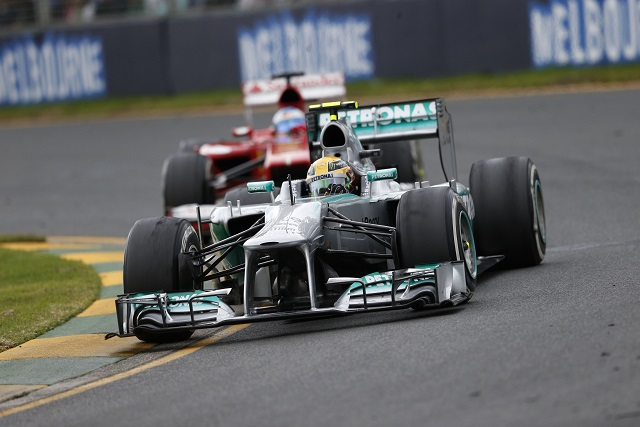 Lewis Hamilton was involved in a thrilling, albeit brief, tussle with Fernando Alonso - Photo Credit: Mercedes AMG Petronas