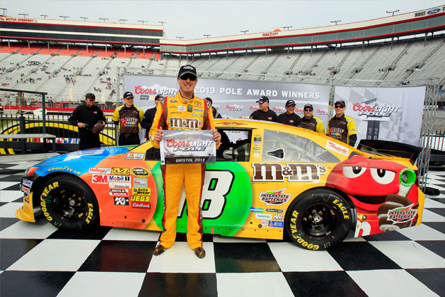 Record on way to bristol pole nascar sprint cup the checkered flag