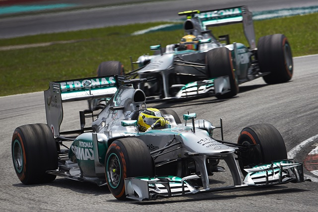 Nico Rosberg and Lewis Hamilton - Photo Credit: Daimler
