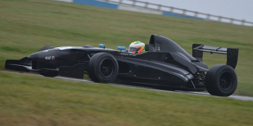 Fielding Tested At A Wet Donington Park Recently - Photo: Simon Paice