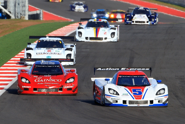 Christian Fittipaldi led the race in the #5 Corvette DP (Photo Credit: Grand-Am)