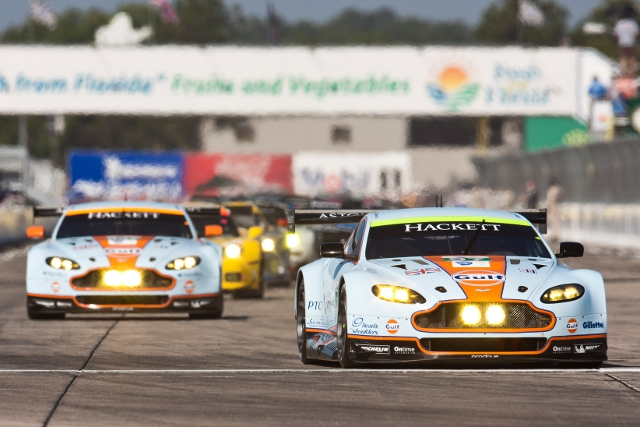 Both the Aston Martin Vantages in the race were effected by mechanical issues (Photo Credit: Aston Martin Racing)