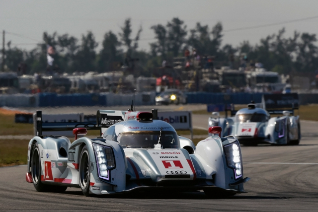 The #1 beat the #2 Audi to the checkered flag by just seven seconds (Photo Credit: Audi Motorsport)