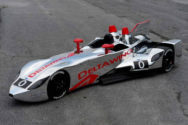 The DeltaWing's new hue replaces the black livery of 2012 (Photo Credit: DeltaWing Racing Cars)