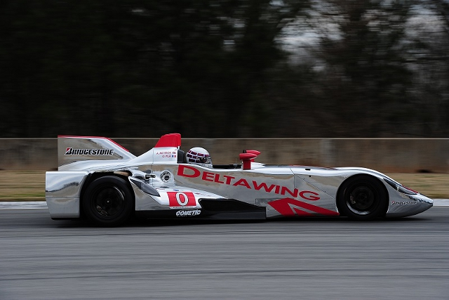 Johnny O'Connell began the two day test, establishing a baseline set-up (Photo Credit: DeltaWing Racing Cars)