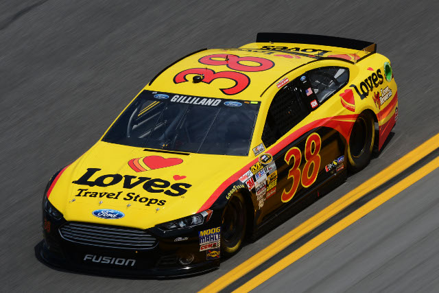 #38 driver David Gilliland is one of two Front Row Motorsports driver from Riverside, CA (Photo Credit: NASCAR)