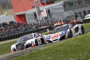 #12 Audi and #9 McLaren - Photo Credit: VIMAGES/Fabre