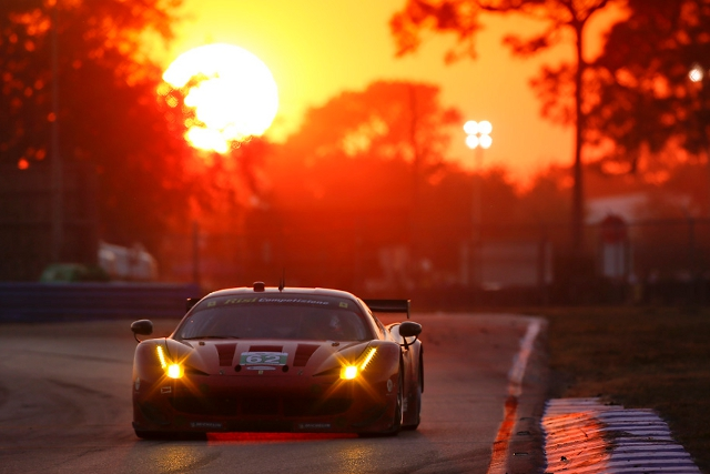 Making his debut at Sebring Matteo Malucelli lost the lead only 15 minutes from the end of the race (Photo Credit: Risi Competizione)