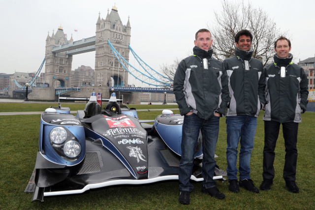 Strakka's all-British line up of Watts, Leventis and Kane showed off the livery at the launch event for the the Six Hours of Silverstone (Photo Credit: Jakob Ebrey Photography)