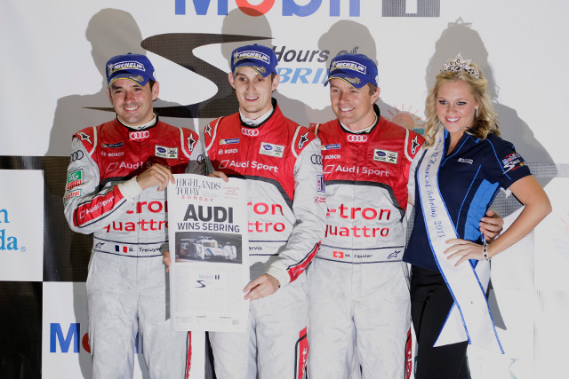 Treluyer (left) completed the final stint for the winning crew (Photo Credit: Audi Motorsport)
