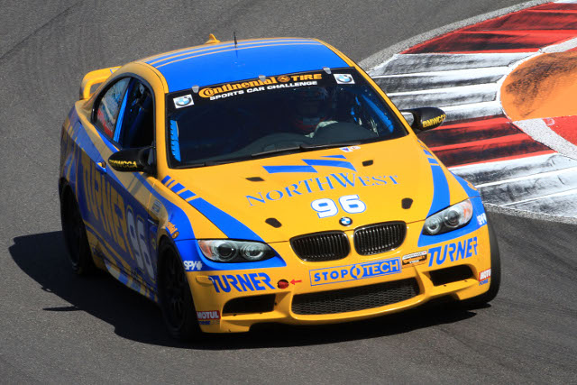 Auberlen dropped to third before a final restart (Photo Credit: Grand-Am)