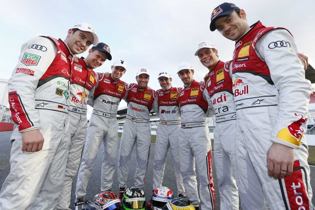 Audi's new line-up for 2013 are ready for battle (Image credit: Audi Motorsport)