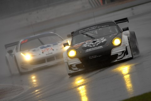 Proton Competition's Porsche headed both Ram Racing Ferraris on the LMGTE podium (Photo Credit: Chris Gurton Photography)
