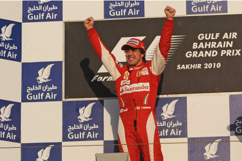 Alonso's most recent win in Bahrain was in 2010. It was his first race for Ferrari - Photo Credit: Ferrari