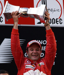 Rubens Barrichello was the winner of the first Chinese Grand Prix - Photo Credit: Ferrari