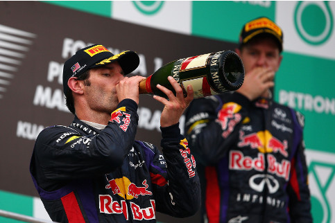 What have I done? Vettel reflects on his actions on the podium in Malaysia - Photo Credit: Clive Mason/Getty Images