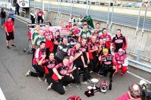Brad Jones Racing celebrate the clean sweep in Tasmania