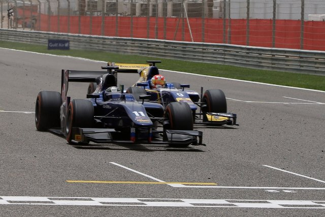 Bird held off Nasr by a fraction of a second at the line (Photo Credit: Glenn Dunbar/GP2 Series Media Service)