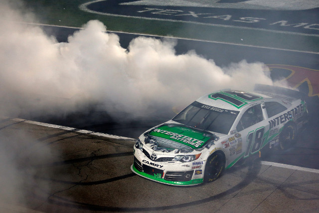 With the Sprint Cup win on Saturday night Kyle Busch swept the Texas Motor Speedway weekend (Photo Credit: Todd Warshaw/NASCAR via Getty Images)