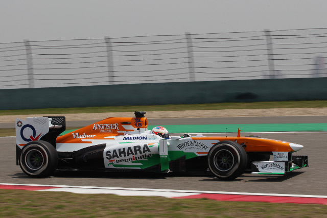 An early touch between Force India teammates threatened another pointless outing (Photo Credit: Force India F1 Team)