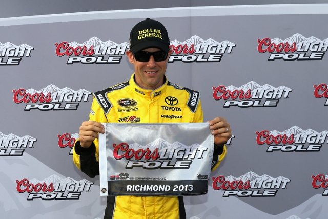 After being stripped of 50 points in the week, the JGR man responded with pole position (Photo Credit: Streeter Lecka/Getty Images)