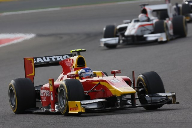 Leimer was pressured on the opening lap, but was otherwise untroubled en route to victory (Photo Credit: Alastair Staley/GP2 Series Media Service)