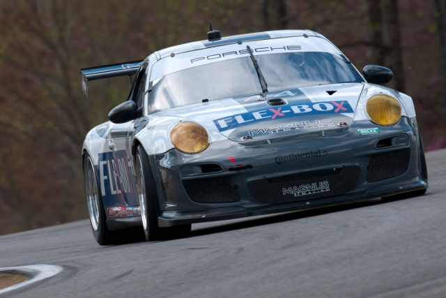 Lally survived a holed radiator to finish sixth in the #44 (Photo Credit: Porsche North America)