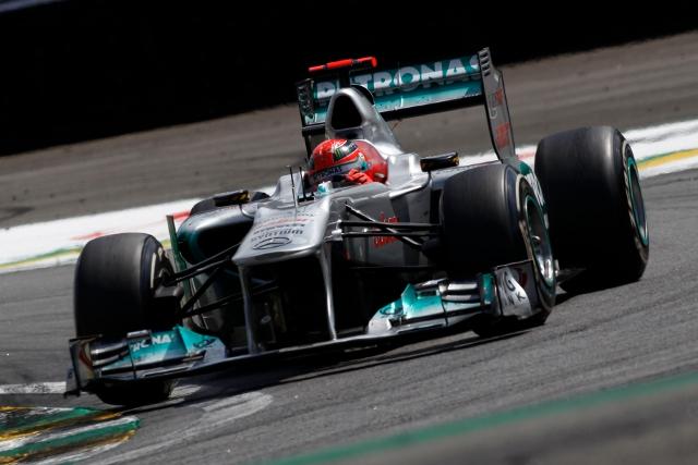 Schumacher will take a 2011 Mercedes around the 'North Loop' (Photo Credit: Mercedes F1 Team)