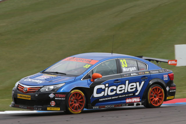 Morgan took home three top fives from Ciceley Racing's second BTCC weekend (Photo Credit: btcc.net)