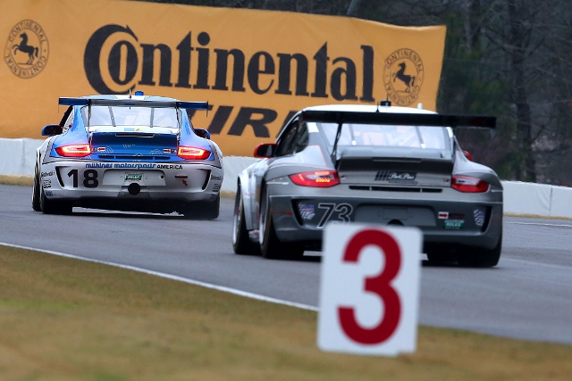 Lindsey qualified the #73 third to lead the Rolex Series' Porsche teams (Photo Credit: Porsche North America)