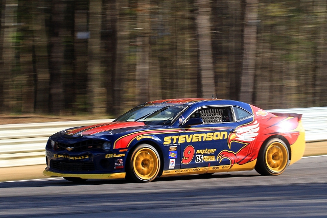 Edwards took the lead on the second round of pitstops on the race (Photo Credit: Grand-Am)