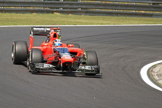 Timo in action for Marussia in Hungary last year (Credit: Octane Photographic)