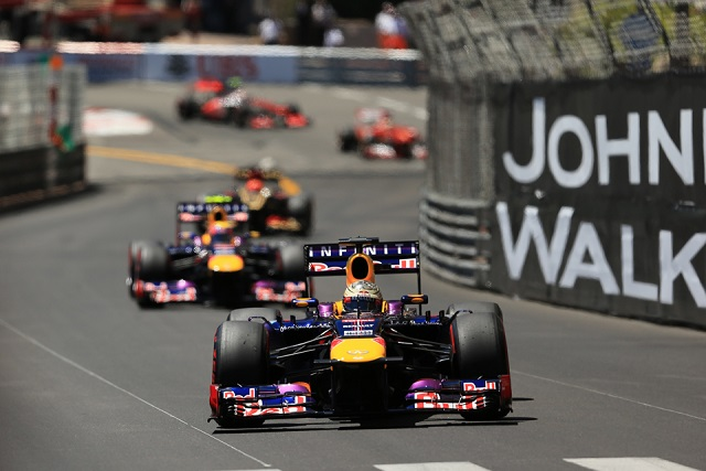 Sebastian Vettel leads Mark Webber - Photo Credit: Octane Photographic