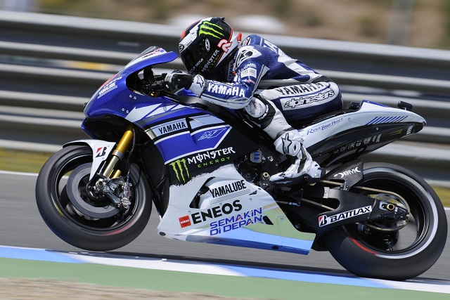 Lorenzo leads close pack on friday at jerez the checkered flag lorenzo leads close pack on friday at jerez voltagebd Images