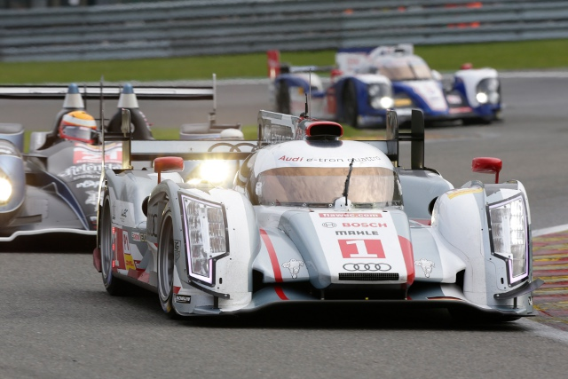 The #1 Audi R18 e-tron quattro was again fastest in second practice at Spa (Photo Credit: Audi Motorsport)