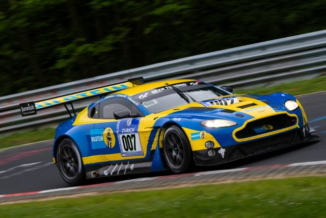 'Fresh' from a top ten at the Nurburgring the Bilstein Vantage GT3 heads Aston's Blancpain contingent (Credit: Aston Martin Racing)