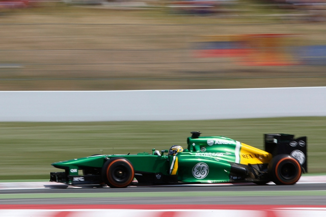 Charles Pic bounced back from Saturday problems to lead the new teams on Sunday (Photo Credit: Caterham F1)